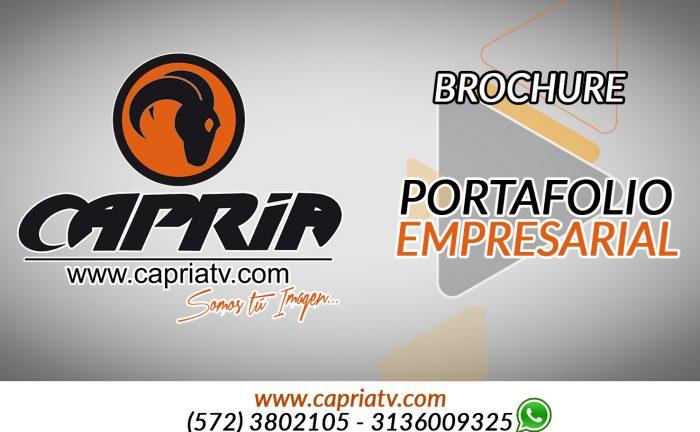 capria television y fotografia brochure
