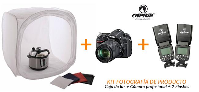 equipo fotografia produto