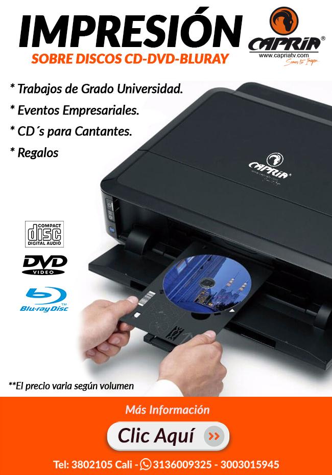 impresion de discos dvd cali 3