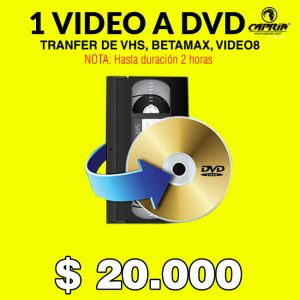 transfer de video vhs betamax a dvd