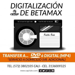 Digitalizacion BETAMAX a DVD USB Cali