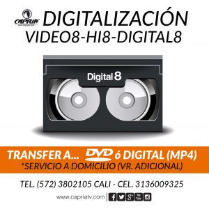 CONVERSION VIDEO 8 - Hi8 - DIGITAL 8 A DVD
