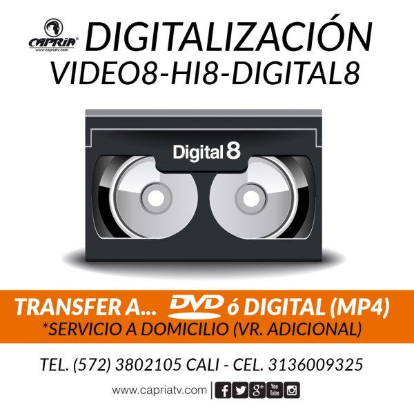 CONVERSION VIDEO 8 - Hi8 - DIGITAL 8 A DVD