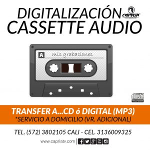 Digitalizacion Cassete Audio a Mp3 CD Cali