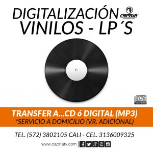 Digitalizacion Lps a Mp3 CD Cali