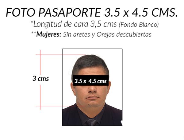 foto documento para pasaporte