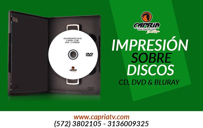 IMPRESION SOBRE DISCO CD DVD BLURAY 2
