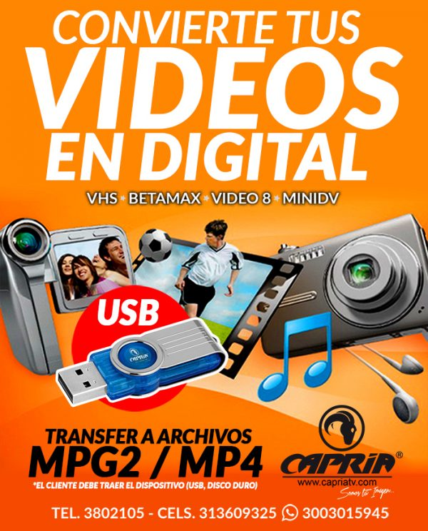 CONVERSION DE VIDEOS A DIGITAL