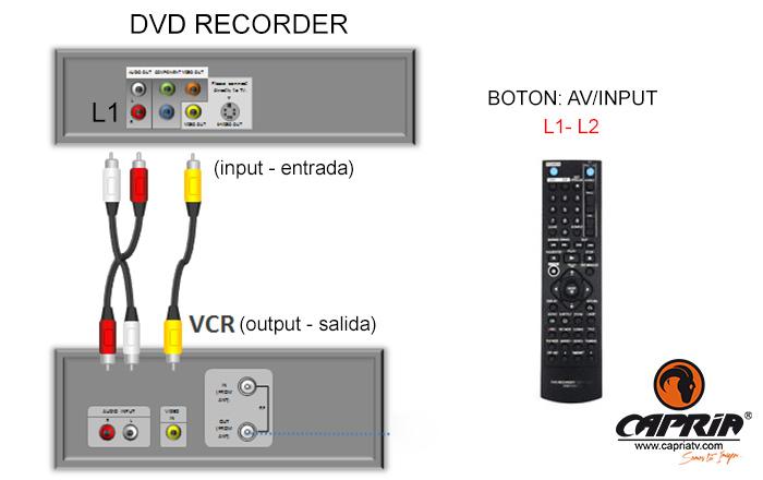 CONEXION VHS A DVD RECORDER