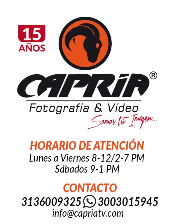 HORARIO CAPRIA FOTOGRAFIA Y VIDEO