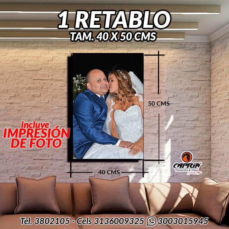 1 Retablo 40X50 cms cali