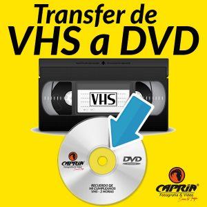 Transfer VHS a DVD Cali