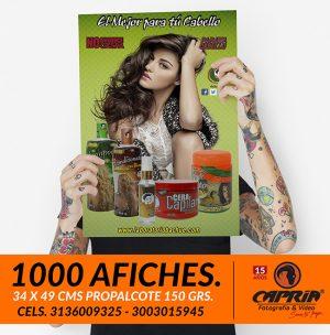 1000 afiches impresos cali