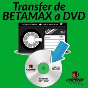 Transfer BETAMAX a DVD