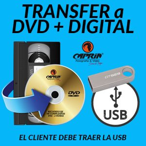 Transfer VHS a DVD + DIGITAL cali
