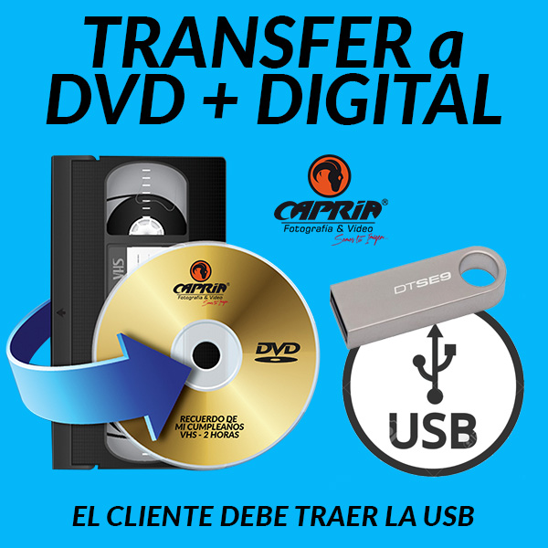 Transfer VHS a DVD + DIGITAL 2