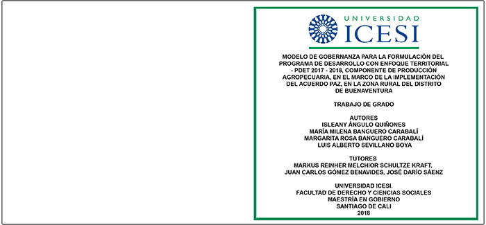 Caja TRABAJO GRADO UNIVERSIDAD ICESI CALI