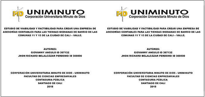 Caja TRABAJO GRADO CD UNIVERSIDAD UNIMINUTO CALI
