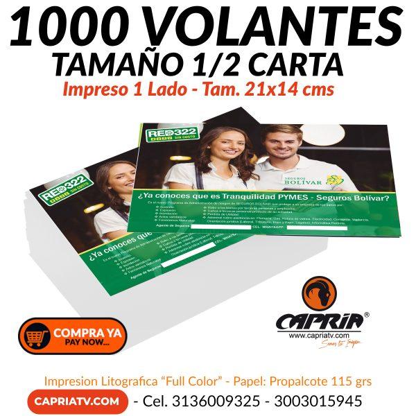 IMPRESION 1000 VOLANTES 100 MIL 2020