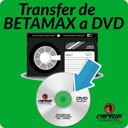 Transfer BETAMAX a DVD cali