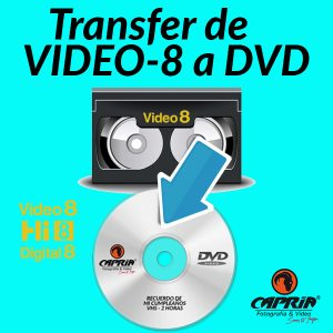 Transfer VIDEO8 a DVD Cali