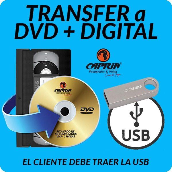 Transfer VHS a DVD + DIGITAL cali