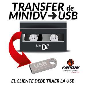 Transfer MINIDV A USB Cali
