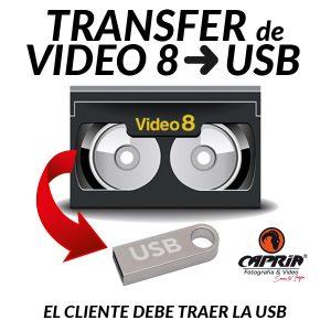 Transfer VIDEO8 A USB Cali