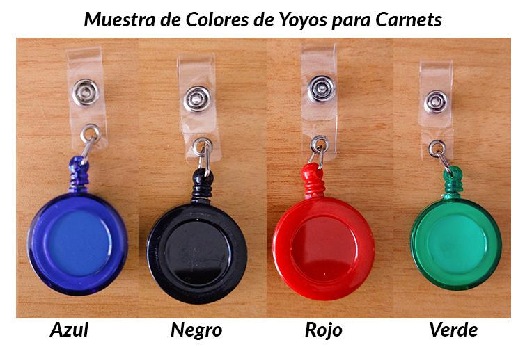 Yoyos Colores para carnet