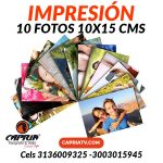 IMPRESION 10 FOTOS 10x15 CALI