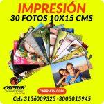 IMPRESION 30 FOTOS 10x15 CALI