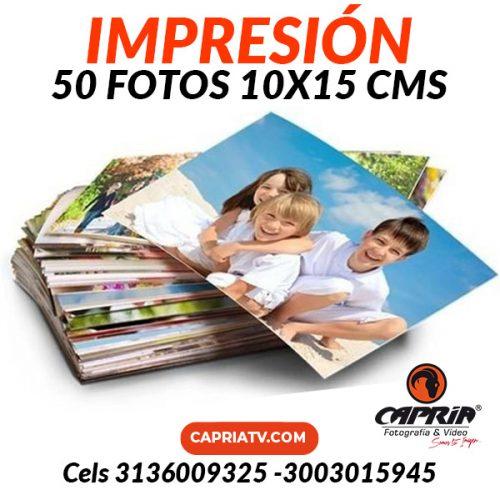 IMPRESION 50 FOTOS 10x15